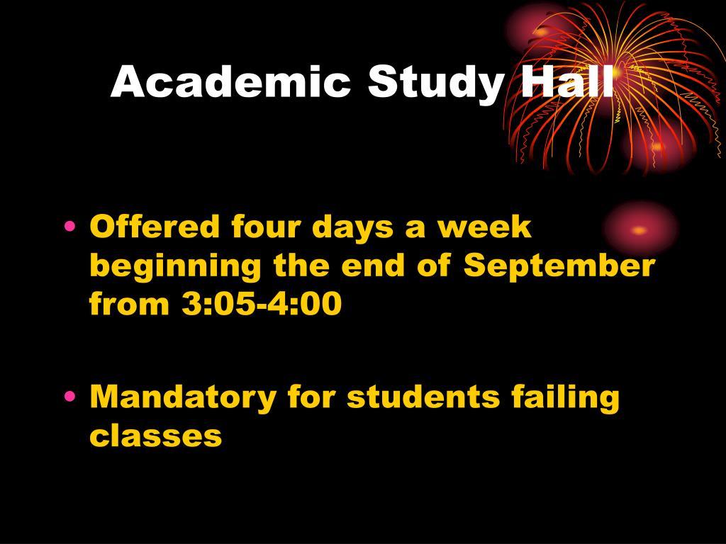 Academic Study Hall