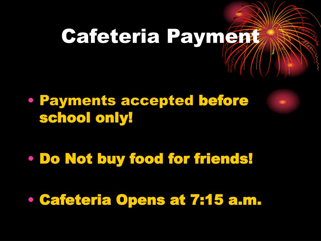 Cafeteria Payment