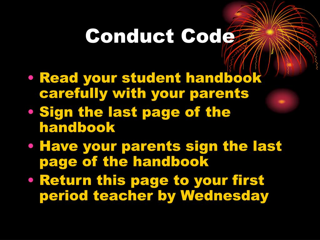Conduct Code