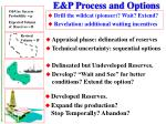 e p process and options