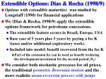 extendible options dias rocha 1998 9