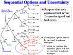 sequential options and uncertainty