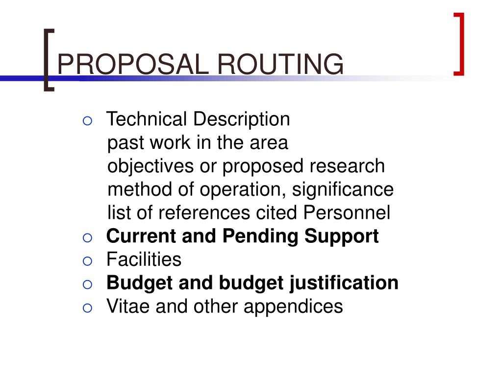 PROPOSAL ROUTING