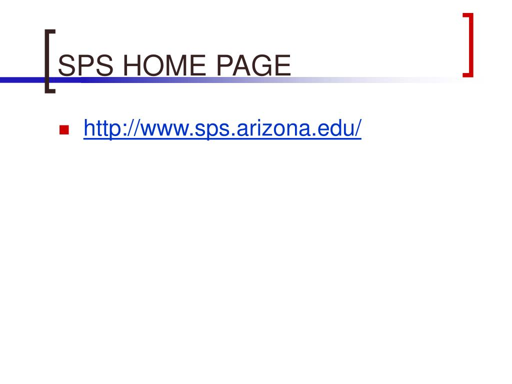 SPS HOME PAGE