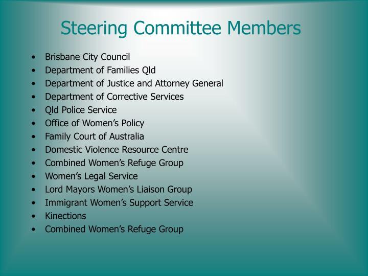 Steering committee members