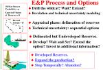 e p process and options37