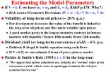 estimating the model parameters