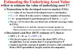 estimating the underlying asset value