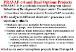 pravap 14 and real options projects