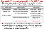 stochastic processes alternatives for oil prices