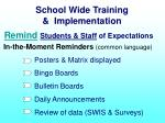 school wide training implementation13