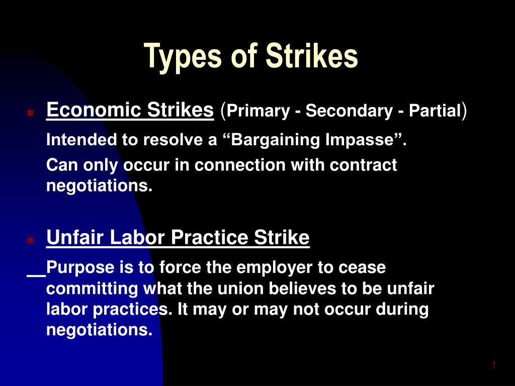 types of strikes l.