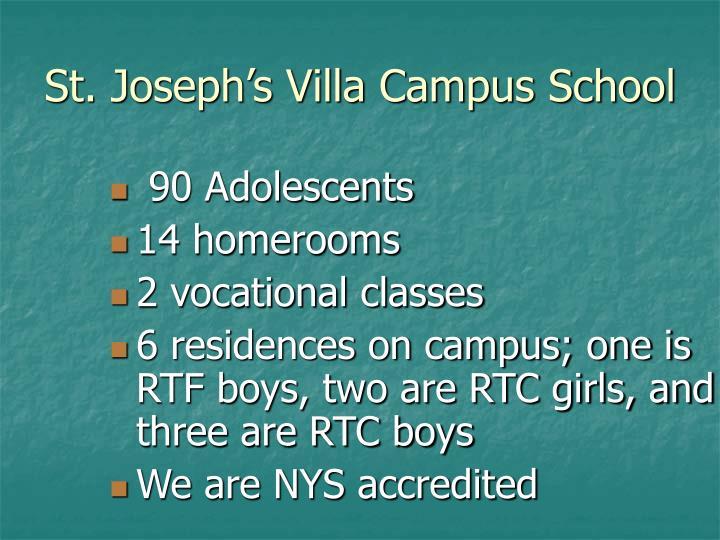 St joseph s villa campus school