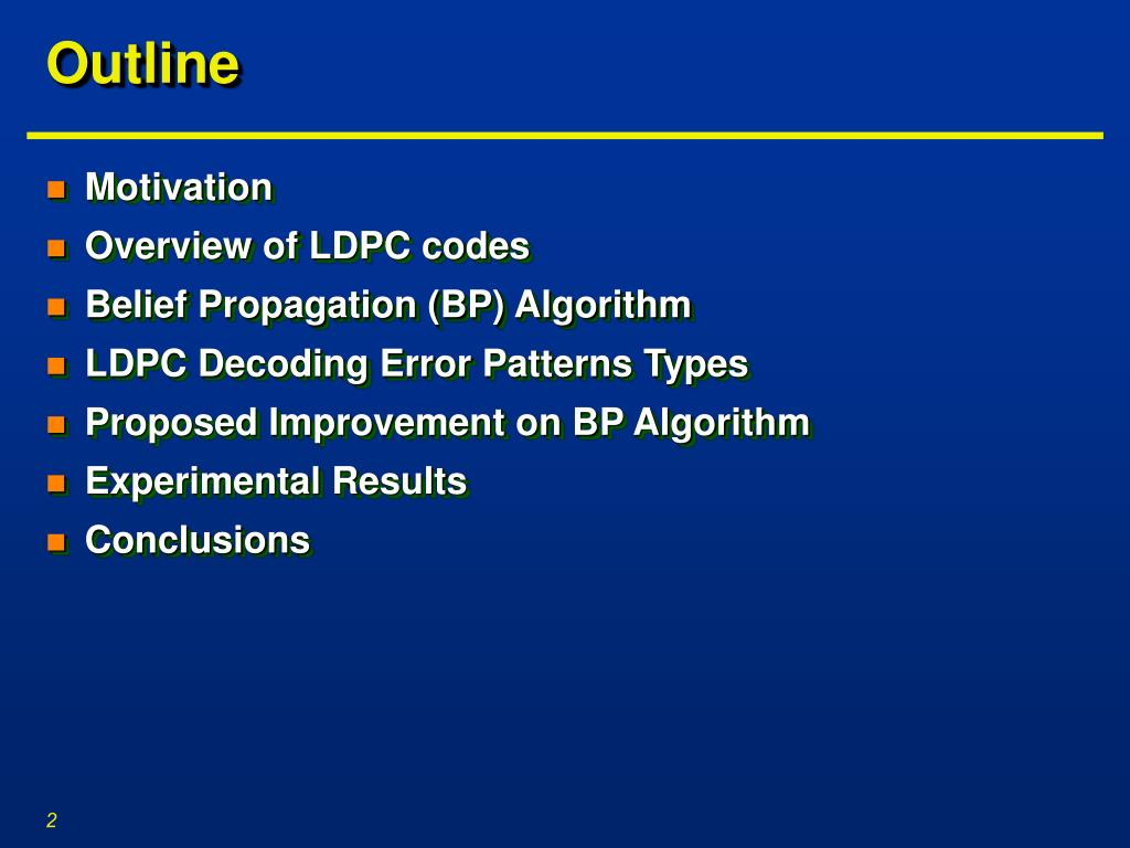 PPT - Improving BER Performance of LDPC Codes Based on Intermediate