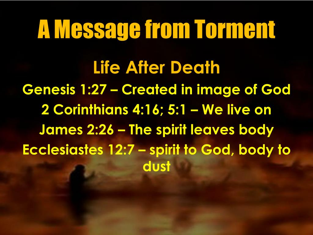 PPT - A Message from Torment PowerPoint Presentation - ID:978510