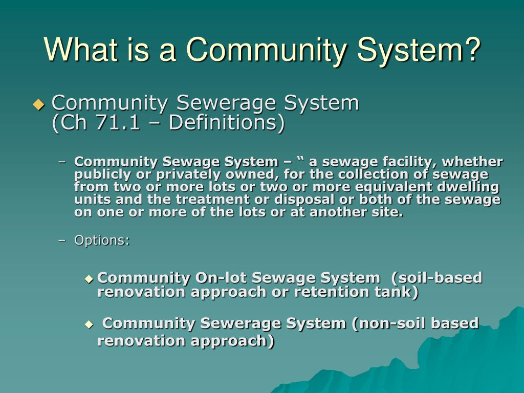What is a Community System?