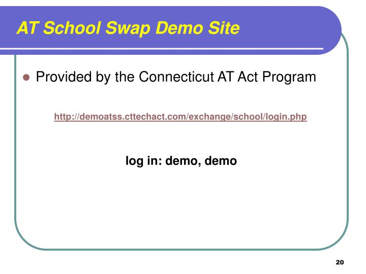 AT School Swap Demo Site