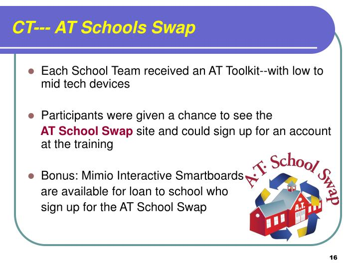 CT--- AT Schools Swap