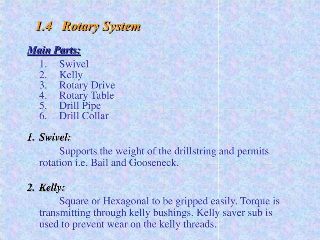 1.4   Rotary System
