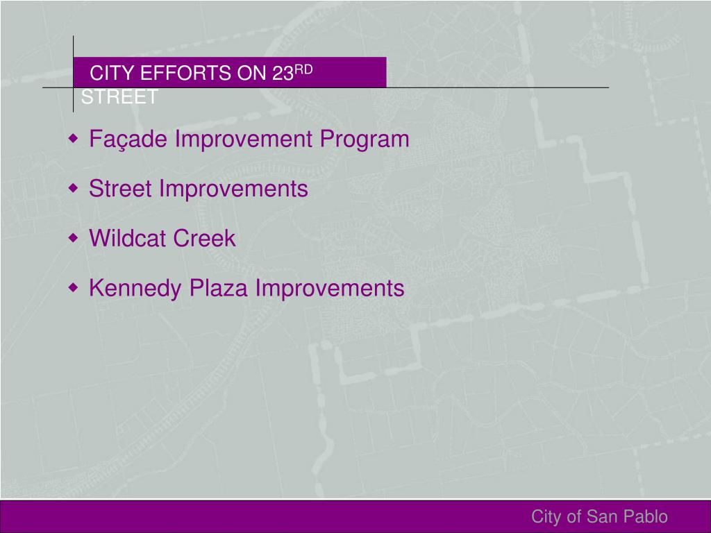 CITY EFFORTS ON 23