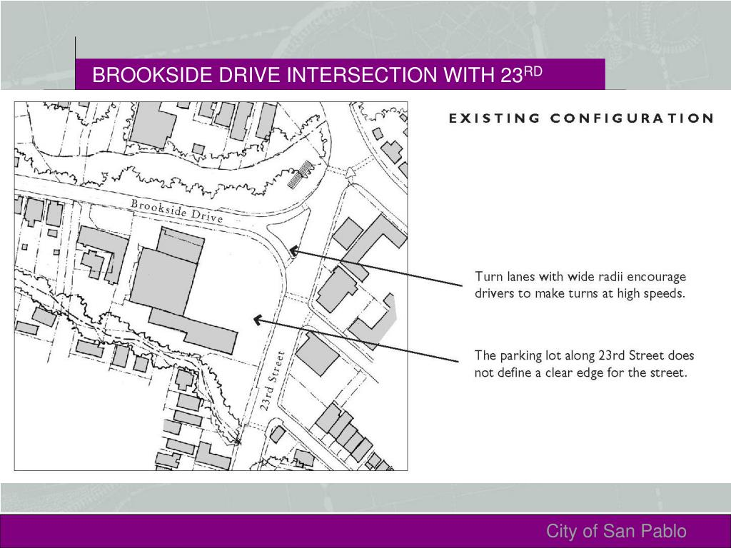 BROOKSIDE DRIVE INTERSECTION WITH 23