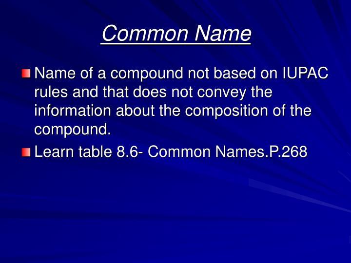 Common Name