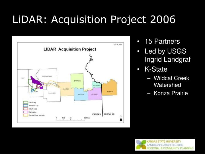 Lidar acquisition project 2006