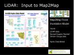 lidar input to map2map