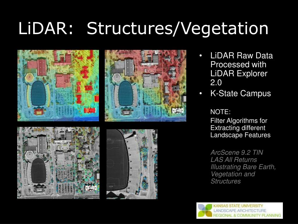 LiDAR:  Structures/Vegetation