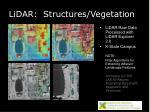 lidar structures vegetation