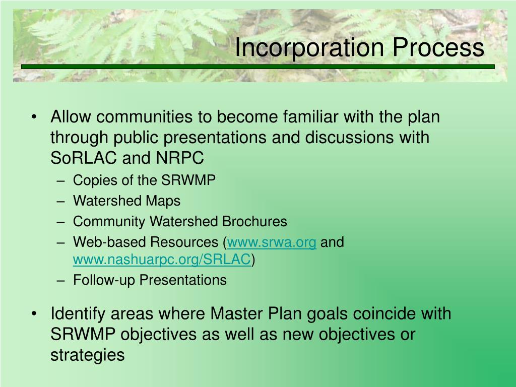 Incorporation Process
