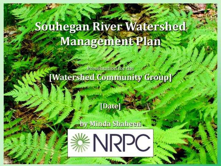 Souhegan River Watershed