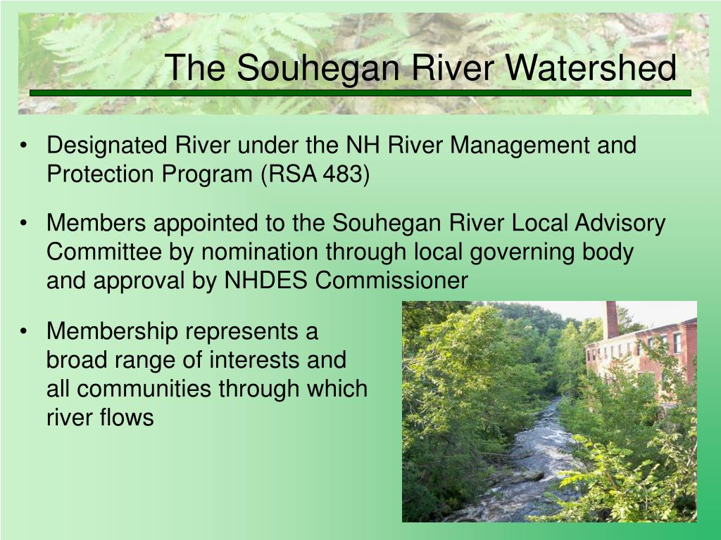 Designated River under the NH River Management and Protection Program (RSA 483)