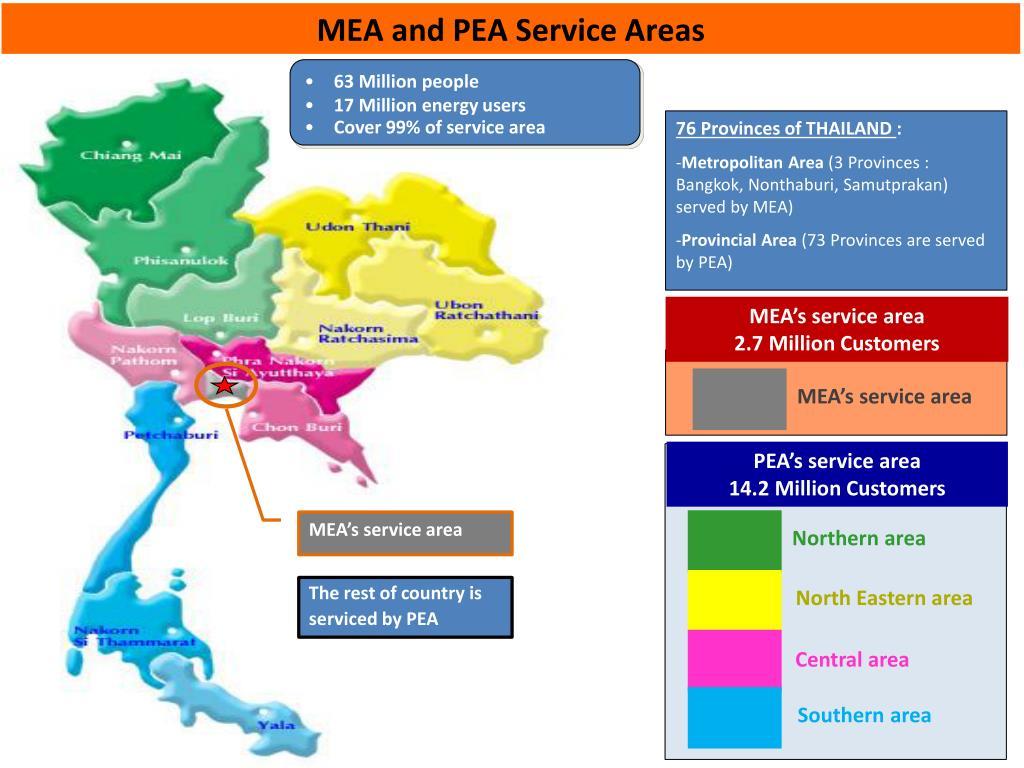 MEA and PEA Service Areas