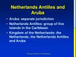 netherlands antilles and aruba
