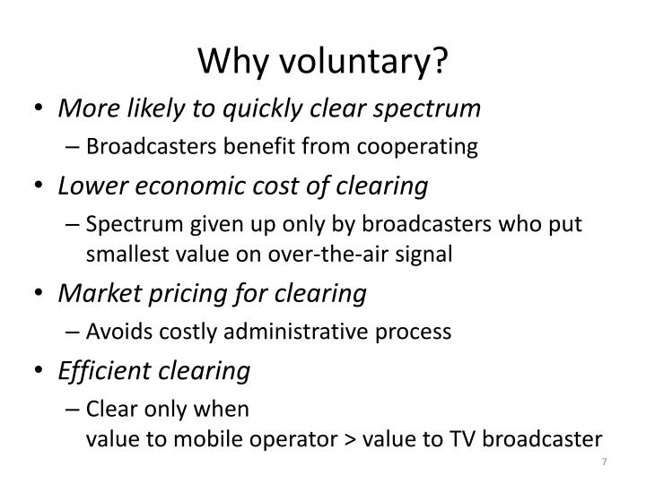 Why voluntary?