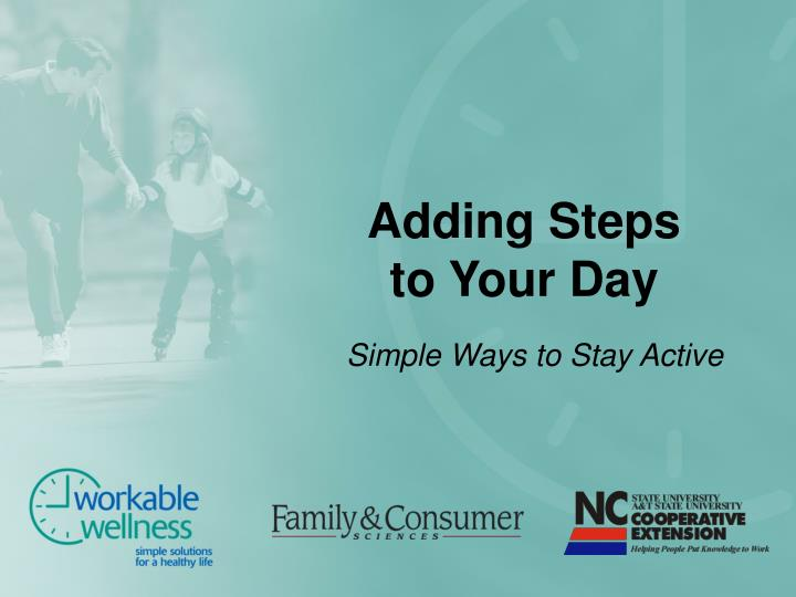 adding steps to your day n.