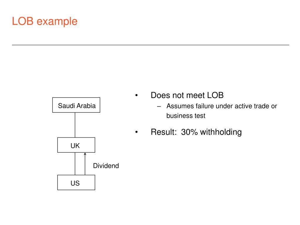 LOB example
