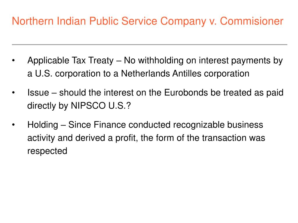 Northern Indian Public Service Company v. Commisioner
