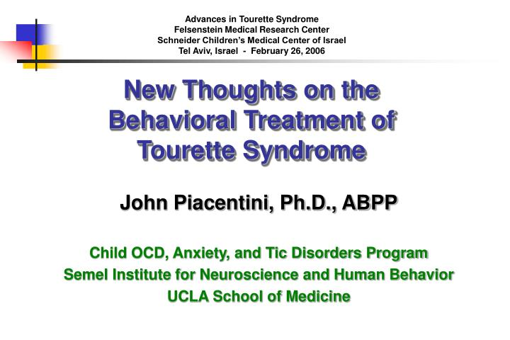 research on tourettes syndrome