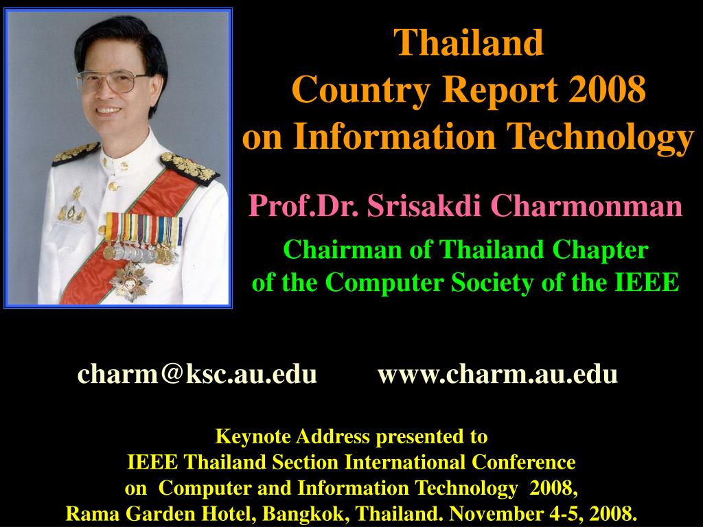 thailand country report 2008 on information technology l.