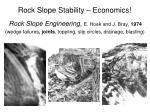 rock slope stability economics