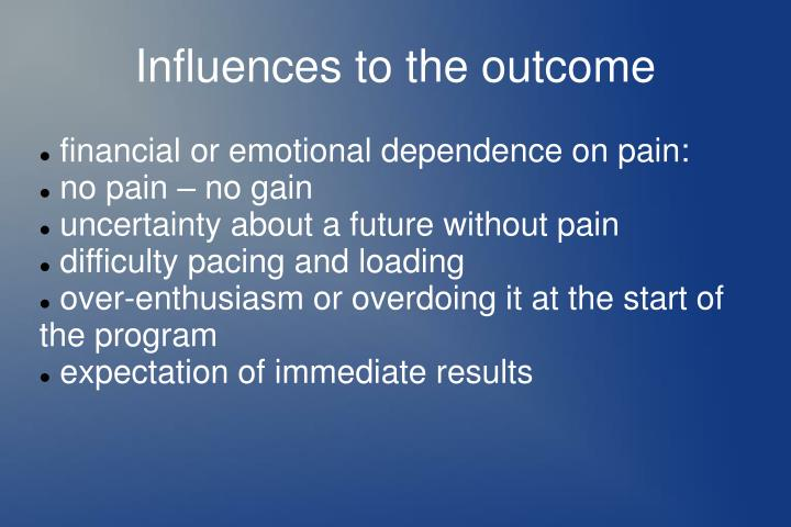 financial or emotional dependence on pain: