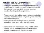 aims of the aul@w project