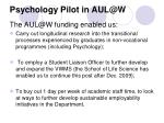 psychology pilot in aul@w