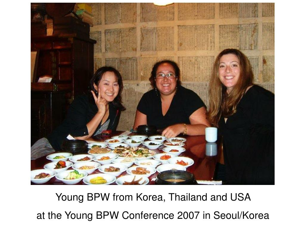 Young BPW from Korea, Thailand and USA