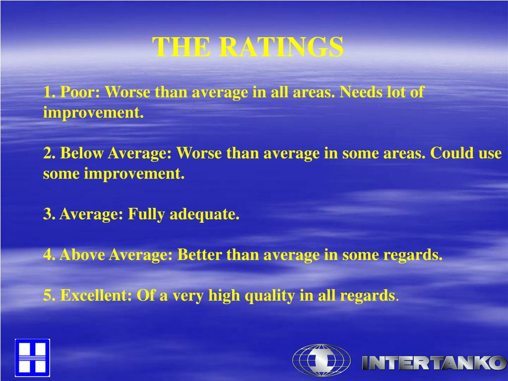 THE RATINGS