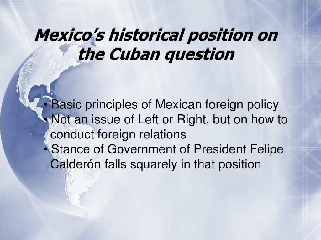 Mexico's historical position on the Cuban question