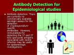 antibody detection for epidemiological studies