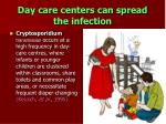 day care centers can spread the infection